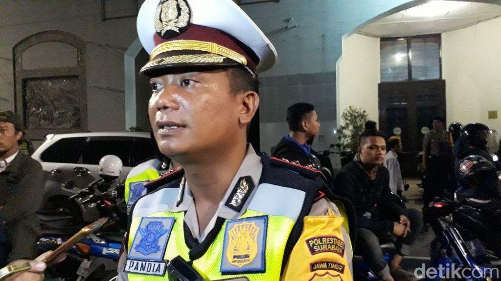 Polisi Amankan Pria Saat Razia di Jalan Gemblongan