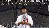 Di Aksi Bela Palestina, Anies Baca Puisi Karya Taufik Ismail