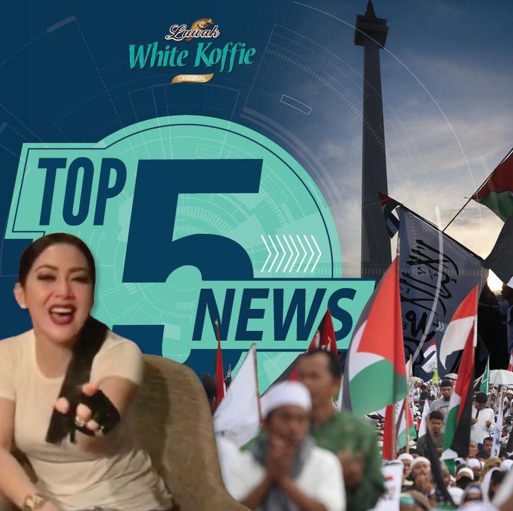 Melihat Aksi Bela Palestina, Syahrini Joget Bareng DJ Steve Aoki