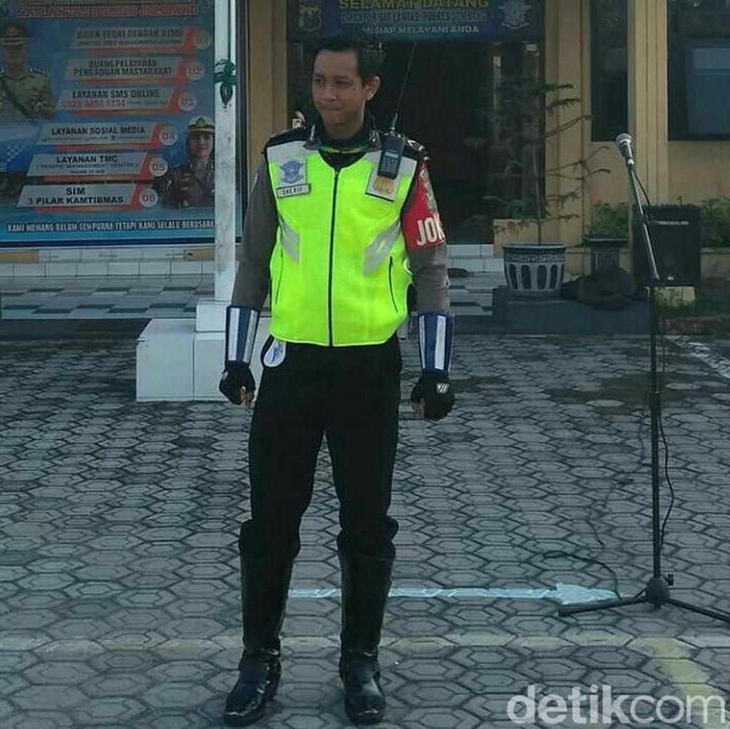Polda Jatim akan Beri Penghargaan ke Polisi Ganteng Tertabrak KA