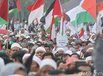 Gambaran Aksi Bela Palestina di Kedubes Amerika Serikat