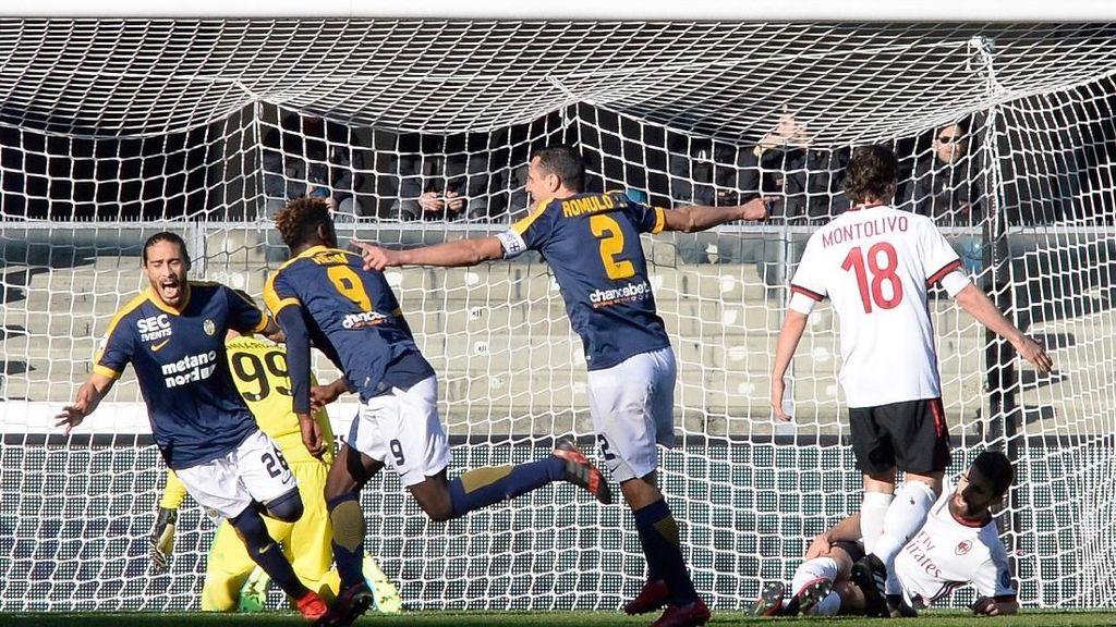Verona Bungkam Milan 3-0