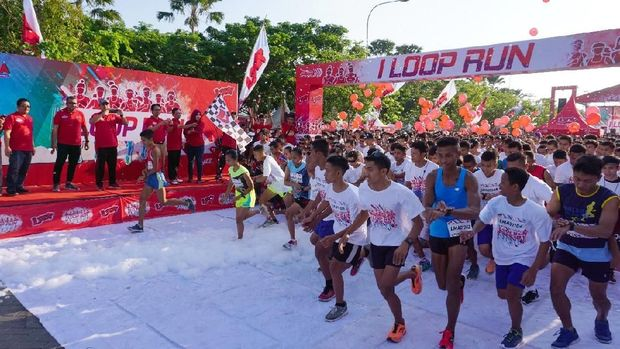 Foam and colour run di Madiun/