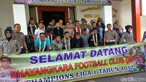 Bhayangkara Football Club (BFC) disambut antusias/