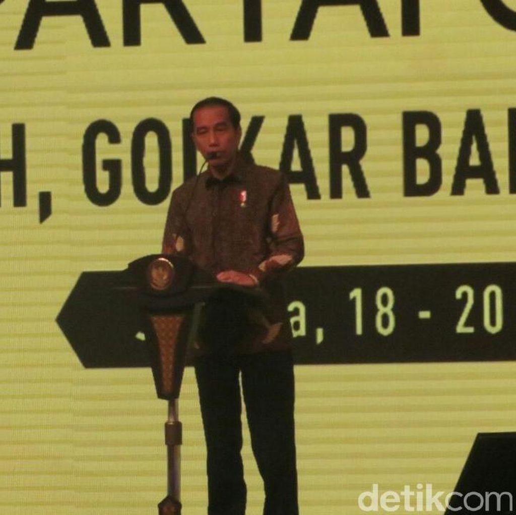 Jokowi Blak-blakan Soal Grup JK, Ical, hingga Luhut di Golkar