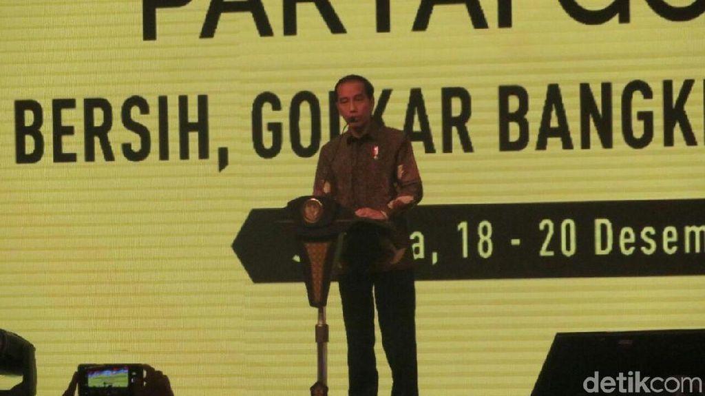 Blak-blakan soal Grup di Golkar, Jokowi: Saya Hanya Mengamati
