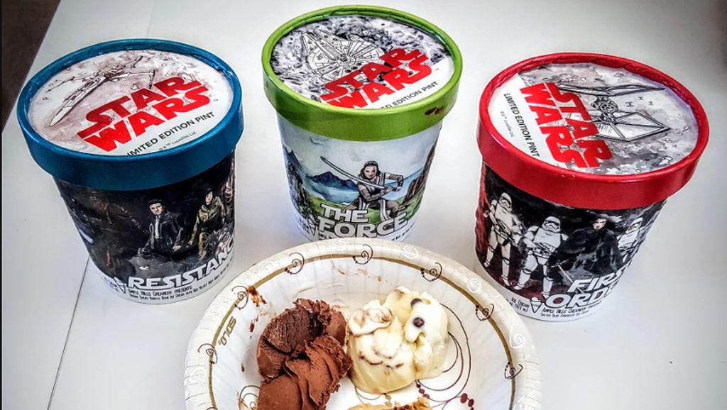 Wow, Meriahnya 3 Varian Es Krim Bertema Star Wars!