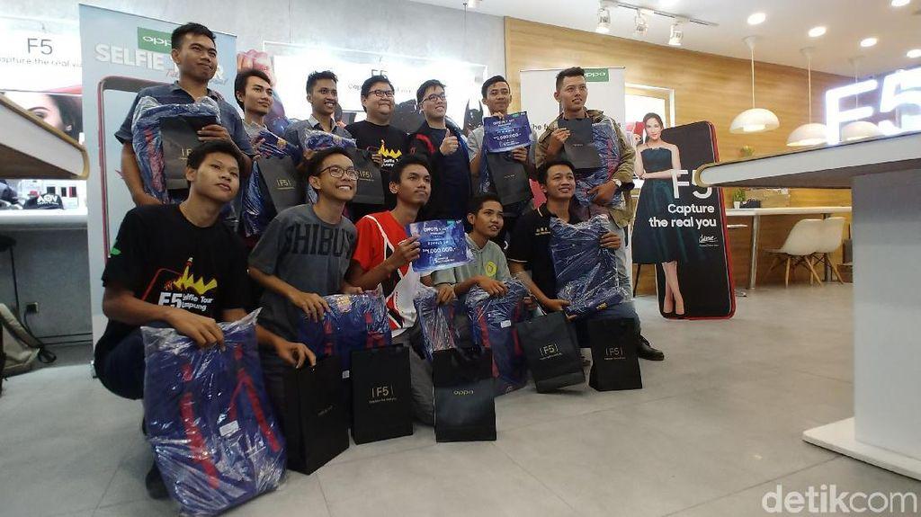 Ini Dia Pemenang Kompetisi Oppo F5 x AOV di Lampung