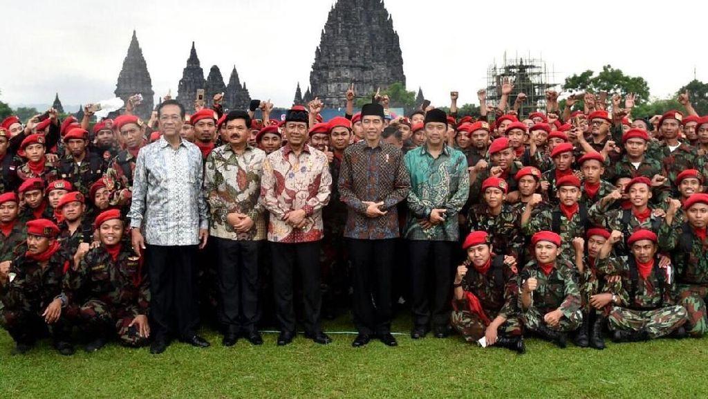 Prambanan Jadi Saksi Sejarah Bertemunya Banser NU dan Kokam Muhammadiyah