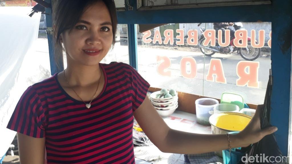 Penjual Bubur Cantik yang Disorot Warganet Pernah Kerja SPG