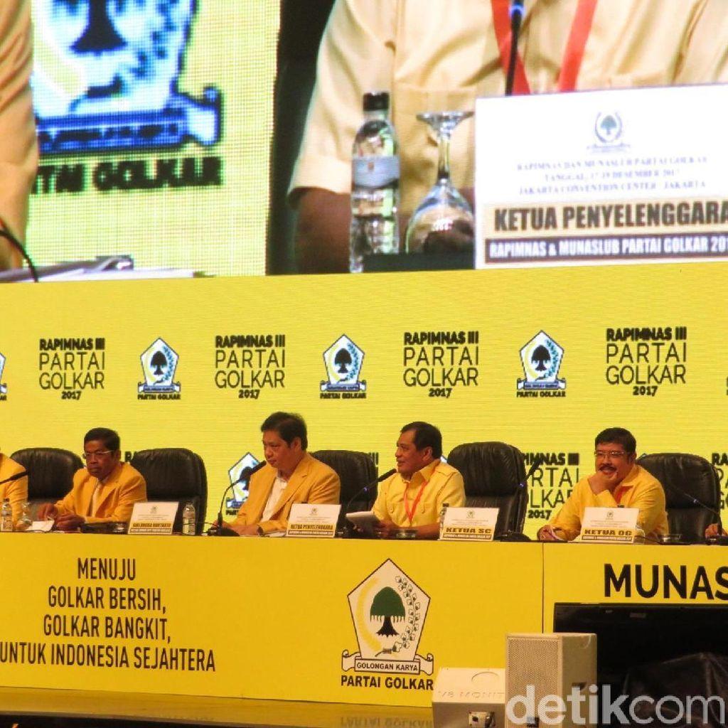 Airlangga Pimpin Paripurna Rapimnas Golkar Dukung Jokowi Capres 2019