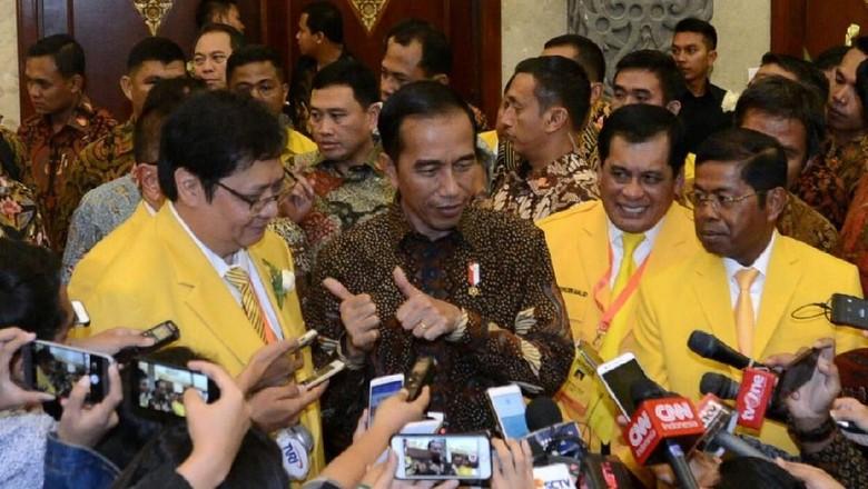 Golkar Sorongkan Airlangga, NasDem: Nebeng Elektabilitas Jokowi?