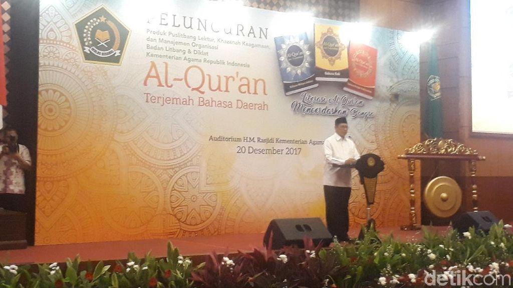 Menag Luncurkan Alquran Terjemahan Bahasa Melayu, Bali dan Banjar