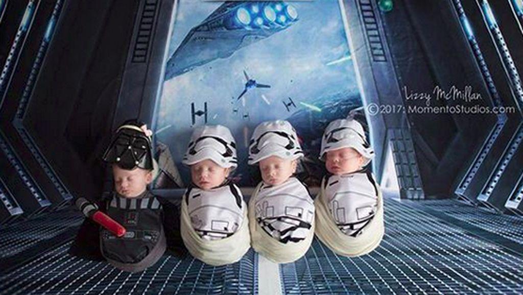Cute Abis! Saat Bayi Kembar 4 Jadi Bintang Star Wars