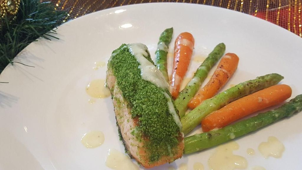 Resep Ikan: Oven-baked Herb Crusted Salmon