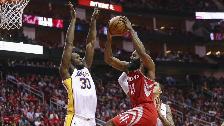 Lakers Atasi 51 Poin Harden, Akhiri Kemenangan Beruntun Rockets