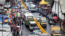 Foto: Potret Jalan Depan Stasiun Tanah Abang Jelang Ditutup Besok