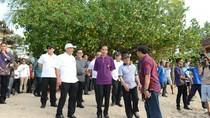 Jokowi Gelar Rapat tentang Gunung Agung di Sanur Bali