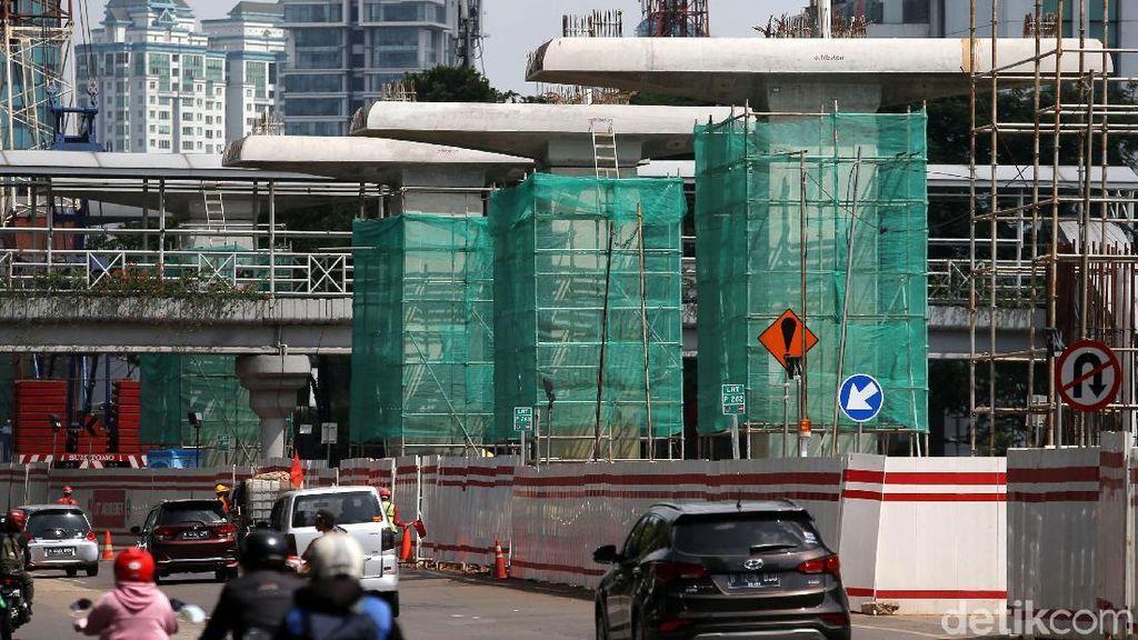 Dibangun Sejak 2015, Fisik Proyek LRT Jabodebek Kini Sudah 34%
