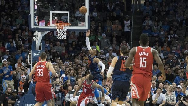 Oklahoma City Thunder mengalahkan Houston Rockets
