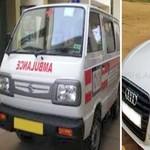 Pria Mabuk Ini Tak Bisa Bedakan Mobil Audi dan Ambulans