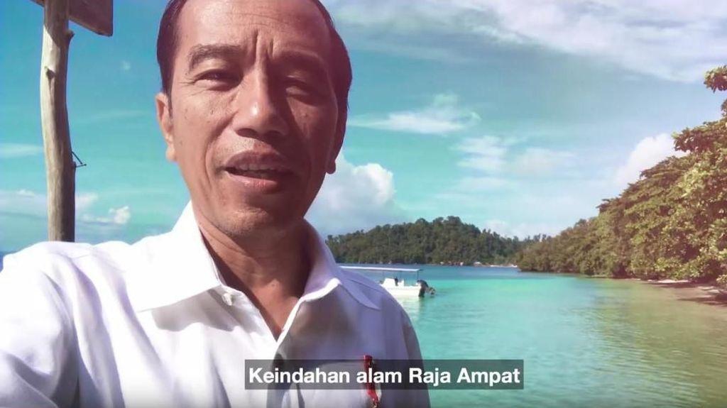 Jokowi Pamer Keindahan Raja Ampat Lewat Vlog