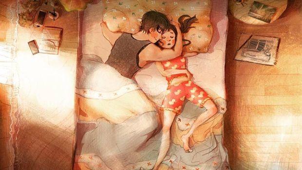 Romantisnya Sepasang Kekasih di Ilustrasi Ini