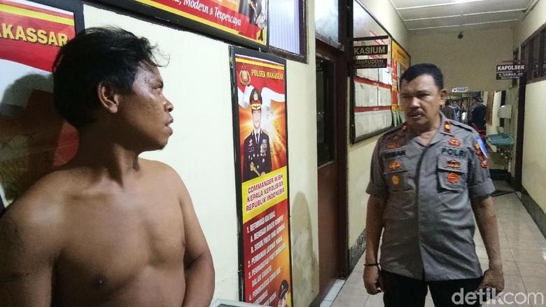 Preman Penganiaya Polisi di Makassar Ditangkap