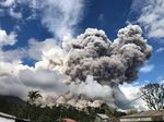 Gunung Sinabung Erupsi 5 Km, Warga Diminta Waspada