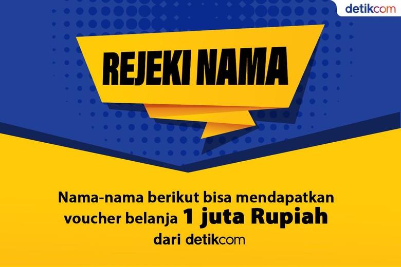 detikcom Bagi-bagi Voucher Belanja Jutaan Rupiah untuk Nama-nama Ini!