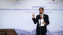 Jokowi Resmikan Terminal Baru Bandara Supadio Pontianak
