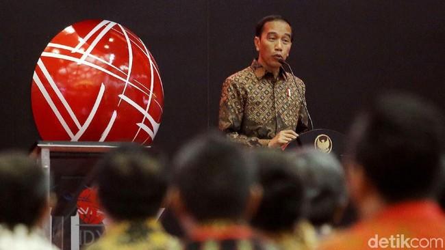 Penutupan Perdagangan Saham 2017 Diwarnai Insiden Ajudan Jokowi