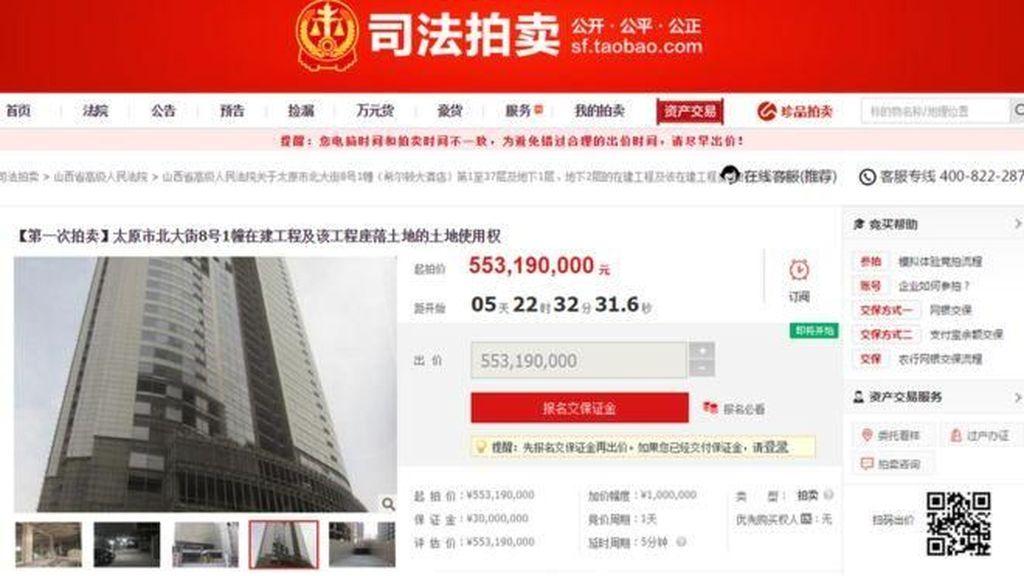 Hanya di China, Gedung Pencakar Langit Dijual di Situs Online