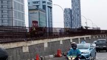 Proyek Flyover Pancoran Masih Dikerjakan, Jalan Sudah Diaspal
