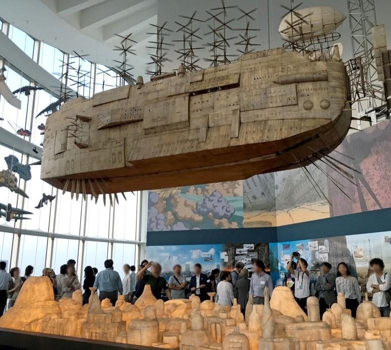 Studio Ghibli Bikin Karya Instalasi Kapal Raksasa di Museum