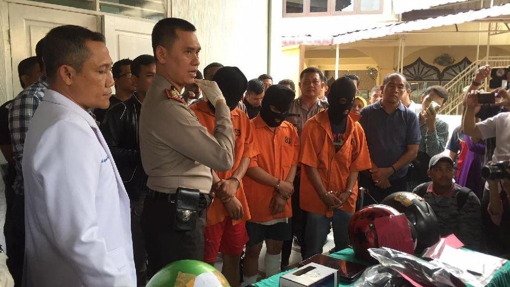 Dor!!! Polisi Tembak Mati 3 Pembegal Guru di Medan