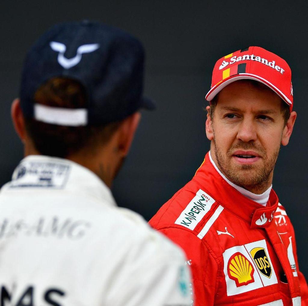 Hamilton Nantikan Respons Dahsyat Vettel di 2018