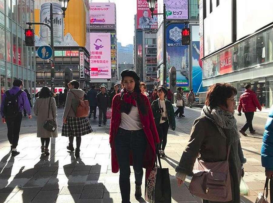 Lihat Gracia Indri Nikmati Musim Dingin di Jepang