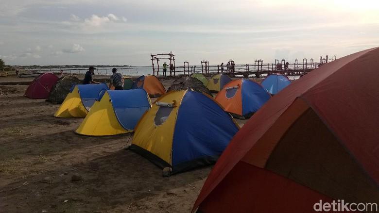 Ada event Camping Beach Party di Pantai Akkarena Makassar jelang tahun baru (Reinhard/detikTravel)