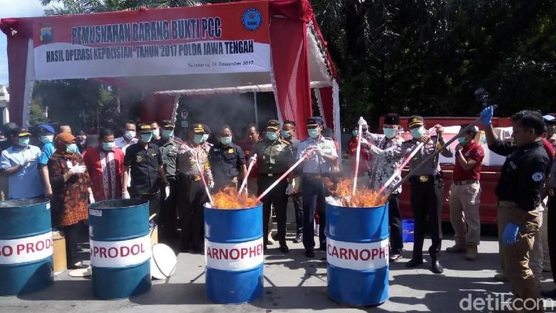 3,5 Juta Butir Pil PCC Dimusnahkan di Solo