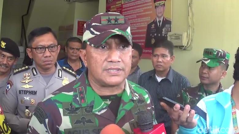 TNI Bantu Cari Pelempar Bom Molotov di Polsek Bontoala Makassar