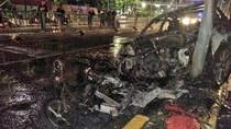 Sedan dan Motor Terbakar dalam Kecelakaan di Tanah Abang