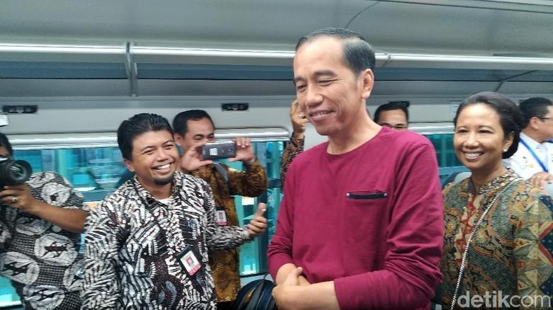 Jokowi Setuju Tiket Kereta Bandara Soetta Naik Jadi Rp 100.000?