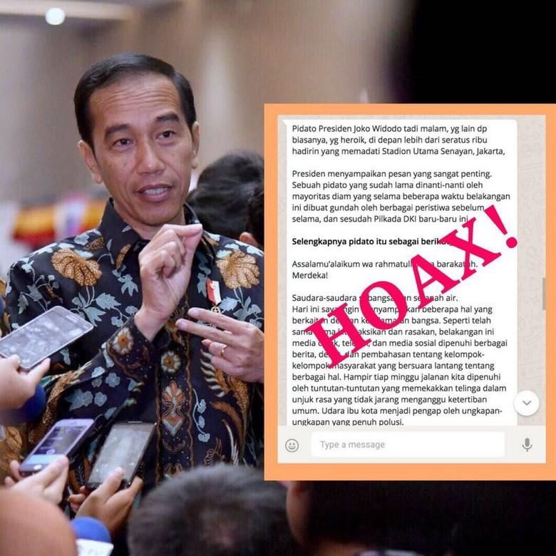 Beredar Broadcast Jokowi soal Pilkada DKI, Istana: Berita Bohong