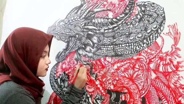 Anis Kurniasih, Seniman yang Melukis dengan Bolpoin