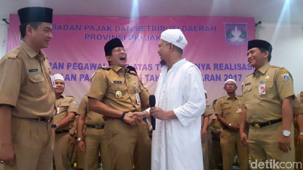 Canda Sandiaga soal Poligami Ustaz Arifin Ilham