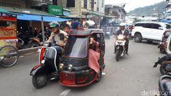 Becak Vespa Jadul di Kota Padang Sidempuan