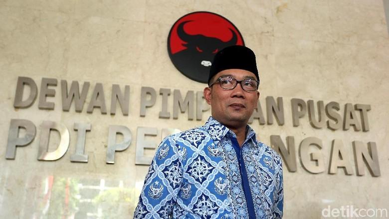 PDIP Usung Ridwan Kamil Jadi Bakal Cagub Jabar