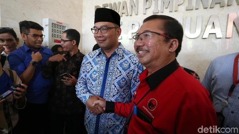Salaman Ridwan Kamil dengan Elite PDIP di Markas Banteng