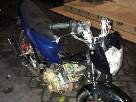 Barang bukti sepeda motor yang dicuri pelaku